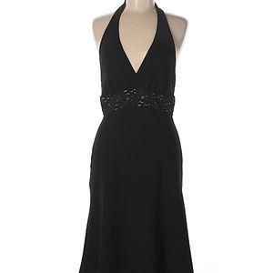 Black holiday party halter dress, 6